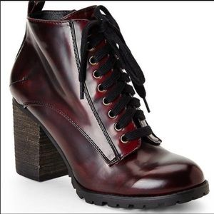 Steve Madden Andie Combat Lace Up Booties 7.5